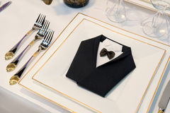 Dining table decoration royalty free stock images