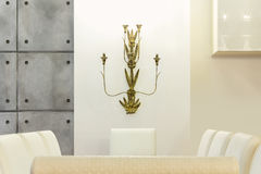 Dining table, detail Royalty Free Stock Image