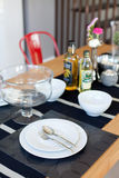 Dining table and dish Stock Photography