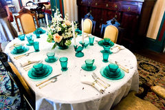 Dining table in the famous Latimer House in Wilmington Royalty Free Stock Image