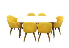 Dining table furniture Stock Image