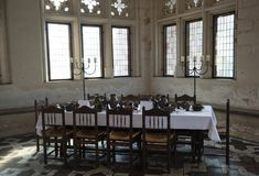Medieval Dining Table Royalty Free Stock Photography