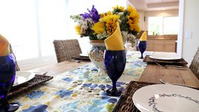 Dining Table stock video footage
