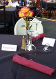 Dining Table Reserved at an Outdoor Restaurant Stock Images
