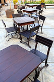 Dining Table Set in Outdoor Stock Image