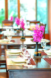 Dining table set Royalty Free Stock Photo