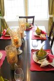 Dining table set up Stock Images