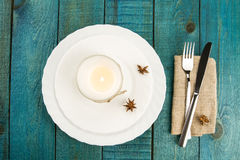 Dining table setting Royalty Free Stock Images
