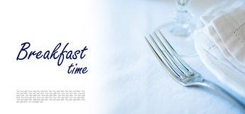 Dining table setting Royalty Free Stock Photography
