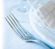 Dining table setting Stock Photography