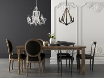 Dining table in two styles Stock Photography