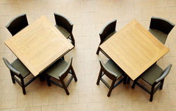 Dining tables Stock Photography