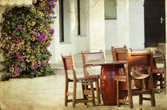 Dining tables and chairs set Stock Images
