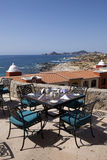 Dining tables with a great view of the Cabo San Lucas Stock Photos