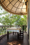 Dining on a terrace Royalty Free Stock Images