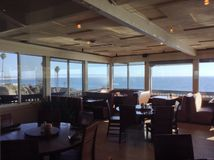 Dining with a View. Pismo Beach, California Royalty Free Stock Photos