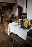Diningroom in medieval Fortress Stock Photography
