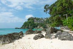 Diniwid strand, Boracay, Filippinerna Arkivfoto