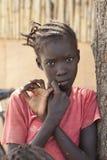 Dinka girl, Bor Sudan stock photo