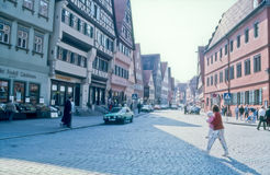 Dinkelsbühl, Bavaria, Germany - Street View Royalty Free Stock Image
