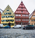Dinkelsbühl, Bavaria, Germany - Timber Framed Buildings Stock Photography
