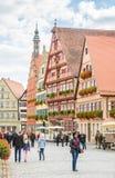 Dinkelsbuehl中世纪老镇  免版税库存图片