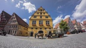 Dinkelsbuehl是一个历史的城市在巴伐利亚,德国 库存照片
