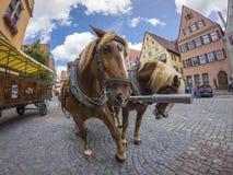 Dinkelsbuehl是一个历史的城市在巴伐利亚,德国 图库摄影
