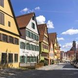 Dinkelsbuehl是一个历史的城市在巴伐利亚,德国 免版税库存照片