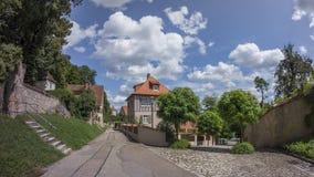 Dinkelsbuehl是一个历史的城市在巴伐利亚,德国 免版税库存图片