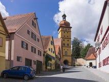 Dinkelsbuehl是一个历史的城市在巴伐利亚 库存图片