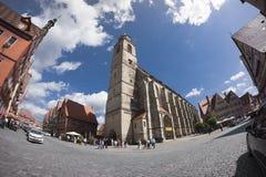 Dinkelsbuehl是一个历史的城市在巴伐利亚 免版税库存照片
