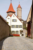 Dinkelsbuehl, Germany, City wall with old defense Stock Photos