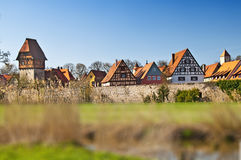 Dinkelsbuehl old city in Germany Stock Photography