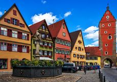 Dinkelsbuhl - Бавария - Германия стоковая фотография rf