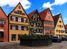Dinkelsbuhl - Beieren - Duitsland Royalty-vrije Stock Foto