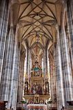 DINKELSBUHL, GERMANY - JUNE 22: Interior of gothic St. George's Minster Stock Images