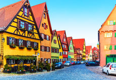 Dinkelsbuhl Tyskland Arkivbilder