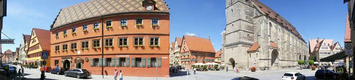 Dinkelsburg, Allemagne Images stock