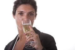 Dinking champagne Royalty Free Stock Photography