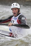 Dinko Mulic in water slalom world cup race Royalty Free Stock Images