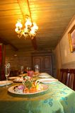 Dinner for 10. Luxuriously laid dinner table for a group of people at a russian restaurant Royalty Free Stock Photo