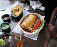 Dinner. Shot of a mexican dish at the restaurant stock photo