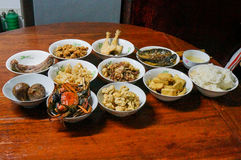 Dinner for ancestor. A dinner in memory of ancestor stock photo