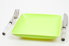 Dinner arrangement. Isolated on gray background Royalty Free Stock Images