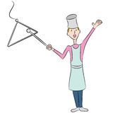 Dinner Bell. An image of a female cook ringing a dinner bell Stock Photography