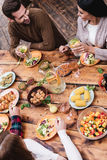 Dinner with best friends. Stock Images