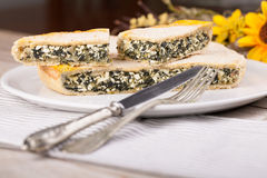 Dinner With Chard Pie Royalty Free Stock Photo