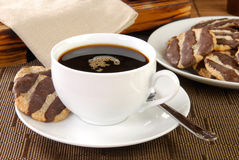 After dinner coffee and cookies Stock Images