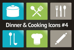 Dinner & Cooking Vector Icon Set #4 Stock Photo